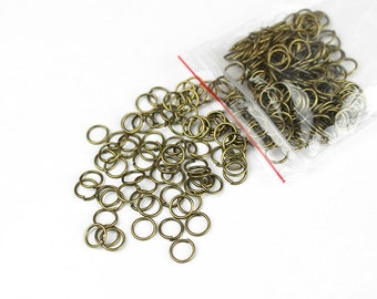 Antique Brass Jump Rings 6mm - 200+ Pieces