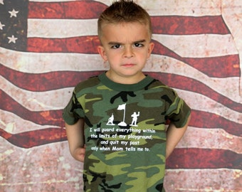 First General Order Kids T-shirt, military, Army, Veteran, Military Child, Army brat