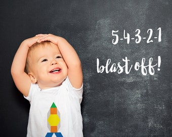 Rocket Geometric Onesie - Blast off!