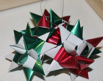 Metallic Wrapping Paper Star Ornaments