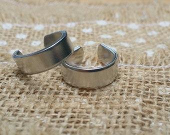 50 Polished 1/4' 14g Ring Blanks Food Safe 1100 Aluminum- FLAT