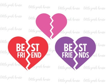 Best Friends SVG, Best Friends, BFF SVG, Bff, friends svg, friendship svg, friendship, broken heart svg, silhouette studio, instant download