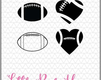 Football SVG, Football Heart svg, files for Silhouette Cameo, svgs for Cricut, silhouette files, svg designs, svg files, silhouette svg, dxf