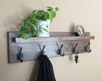 Coat Rack with Floating Shelf