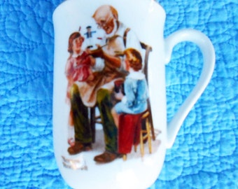 Rockwell Toymaker Mug, Rockwell Museum, Norman Rockwell, 1982 ,  Seal of Authenticity, Museum Collection, Vintage Porcelain Mug Cup