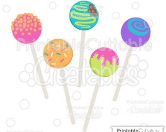 Birthday Cake Pops SVG Cut Files & Clipart E120 - Includes Limited Commercial Use!