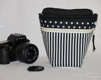 Camera case for SLR camera or bridge camera