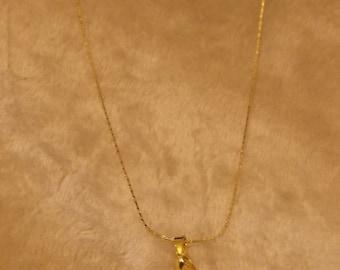 "24"" Goldtone Stone Necklace"