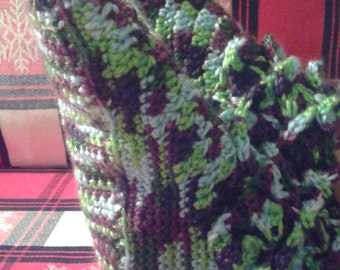 Slipper crochet lilac