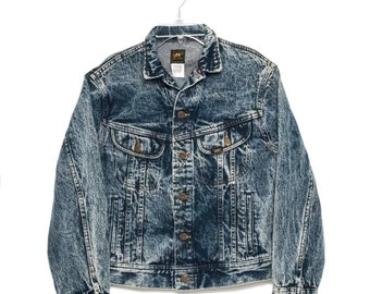 Vintage Lee acid washed denim jacket