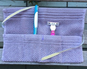 Travel Toiletry Roll, Travel Roll, Toothbrush Travel Roll, Travel Organizer, Overnight, College Student Gift, Travel Pouch, Vacation, Camp