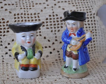 Set of Two Toby Miniature Pitchers - Hand painted - Made in Japan