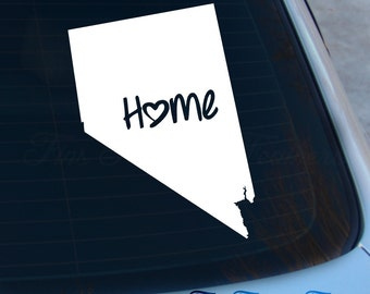 Nevada Decal - State Decal - Home Decal - NV Sticker - Love - Laptop - Macbook - Car Decal