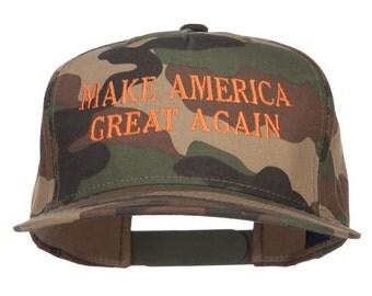 Make America Great Again Embroidered Snapback-Camo