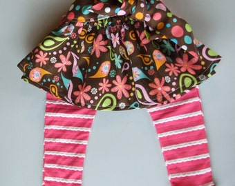 skirt and leggings set--size 3 months, for baby girl