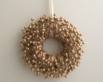 Gold Berry Wreath / Winter Wreath / Christmas Wreath / Holiday Wreath / Bronze Wreath / Gold Wreath / Berry Wreath / Small Wreath / Wreath