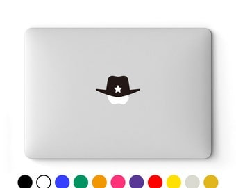 MacBook Decal | MacBook Sticker | Laptop Decal | Laptop Sticker | MacBook Air Pro Retina Touch Bar 11 12 13 15 17 inch | Sheriff