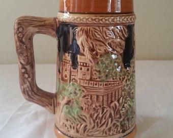 Beer stein in German style /beer stein /ceramic stein/stein pair/hand painted stien