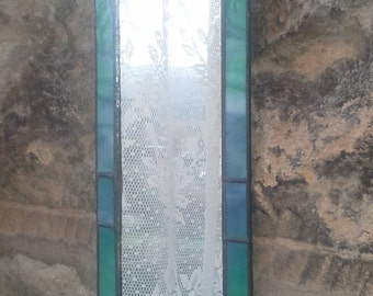 Stained glass gothic style mirror