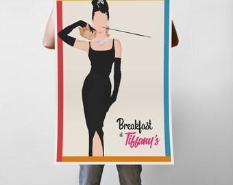 Breakfast At Tiffany's Movie - Audrey Hepburn Art Print Poster - Multiple Sizes