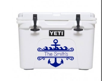 Anchor decal, last name decal, last name yeti cooler decal, yeti decal, yeti stickers, yet sticker, anchor yeti sticker, yeti cooler sticker