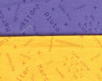 Purple-Gold -1 yd - 2 pieces - Clothworks by Jamie Wood