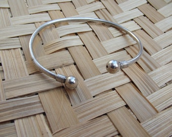 Silver men bracelet, silver tribal bangle, boho bracelet, ethnic bangle, indian bracelet, tribal bracelet