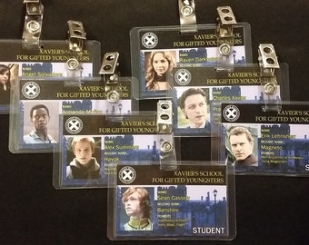 Xavier's School for Gifted Youngsters ID Badges (X-Men First Class)
