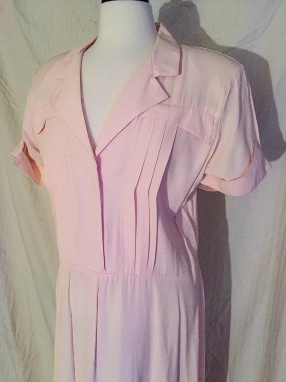 Headtosewvintage Vintage 1970s Hearts 50s Style Plus Size Dress