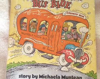 The Very Bumpy Bus Ride Children's Book, Michaela Muntean, Parents Magazine Press, Children's fiction, Vintage 1981 book