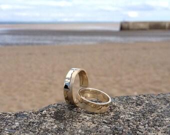 Handmade 9ct Yellow Gold Coastline Ring