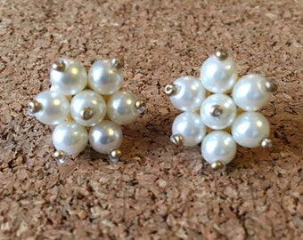 Pearl Beaded stud earrings