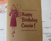 Happy Birthday Cousin! - Letterpress cousin birthday card