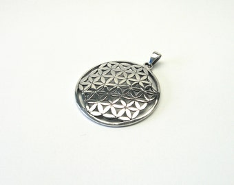 Big Flower of Life sterling silver 925 Jewelry Pendant