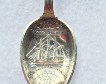 1905 Silver plated Kristiania Norge souvenir spoon