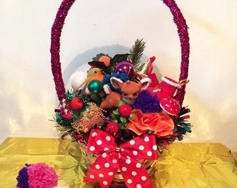 Christmas Kitsch festive basket