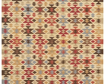 Handmade Tribal design Kilim rug 6ft x 4ft