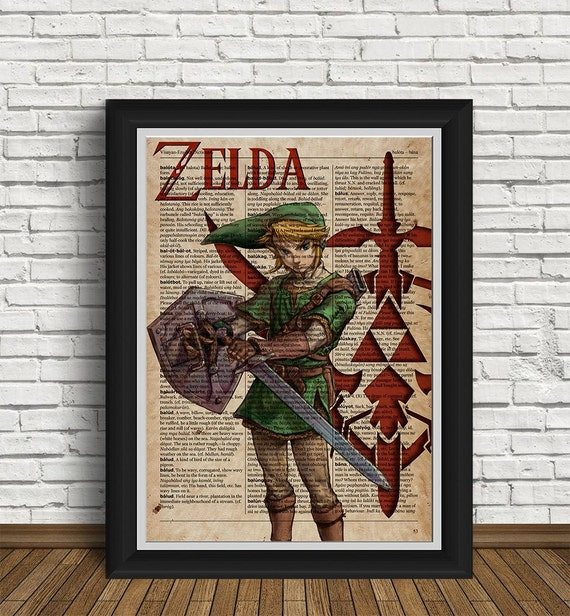 Zelda Wall Decoration : Zelda print wall art replica twilight princess