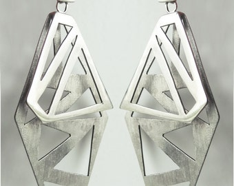 LONG EARRINGS Sterling Silver, Contemporary Jewelry, Geometric Jewellery, Christmas Gift, Birthday, Gift for her, Handmade Jewelry, Original