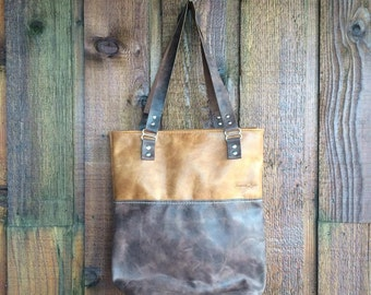 Leather Tote Style Handbag