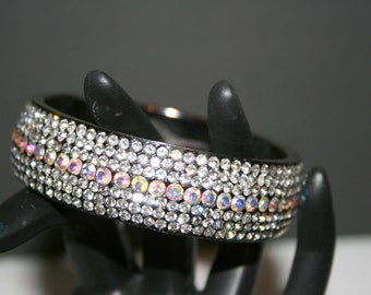 Bangle Bracelet With Swarovski Crystals///Bangle Bracelet//Vintage Swarovski Bracelet