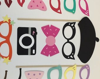 Party Glasses / Birthday Party / Wedding Photo Props / Photo Booth Prop / Photobooth Props / Fun Party Favors / FULLY ASSEMBLED / 31 Pc