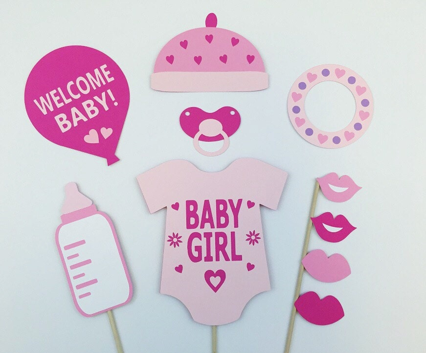 photo booth girl baby shower props girl babyshower photo