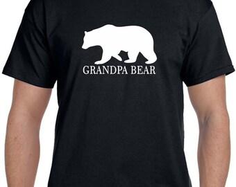 Grandparent gifts Pregnancy reveal to Grandparents, Grandpa Bear Shirt Grandpa gift Fathers Day Gift Baby Announcement Grandparent