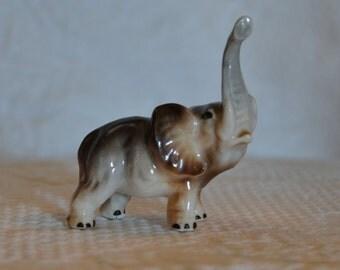Vintage Miniature Elephant Figurine // Mid Century