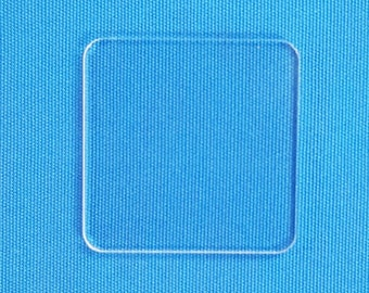 "50 Clear Acrylic Square ( Select size )  1/8"" or 1/16"" Thick - laser cut With Polished Edges Plexiglass"