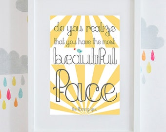 """The Flaming Lips """"Do You Realize?""""  song quote, gift print available framed or unframed."""