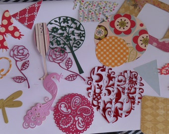 Handmade Diecut Patterned & Cardstock Embellishments, Cards, Scrapbooks, Gifts, Tags, Decorations, Card Topper
