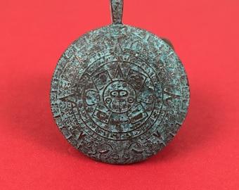 Mayan pendant etsy made in greece mykonos mayan aztec calendar pendant x5841acgqty1 aloadofball Image collections