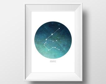 Aquarius Constellation Print